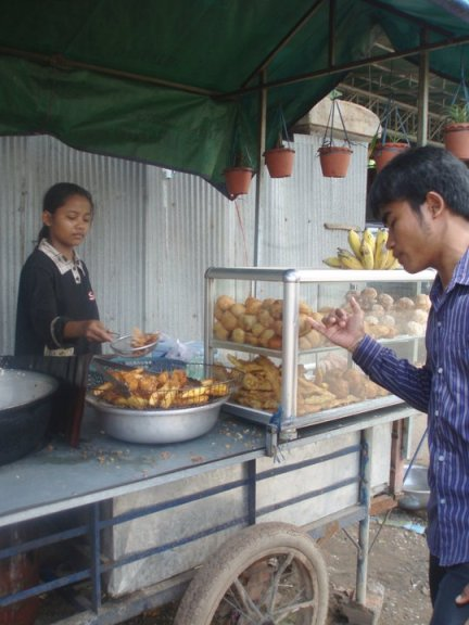 Cambodian street food, just because it looks different, doesn't mean it's not delicious.