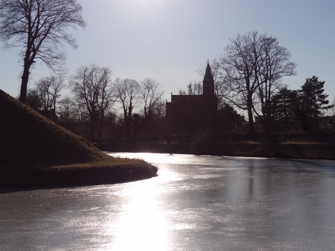 A stunning icy lake just near the Little Mermaid statue.