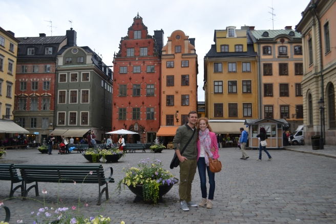 Callie and her boyfriend, Paul Bryson, exploring the colourful wonderland of Stockholm.