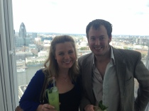 Cocktails at The Shard.