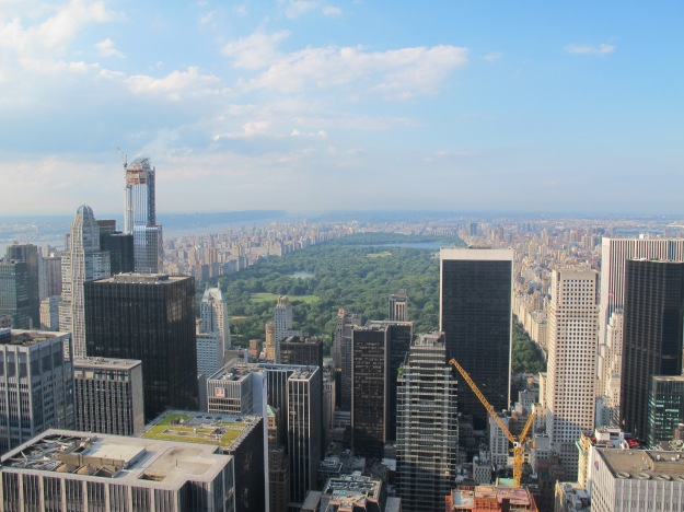 Gorgeous views from the top of the Rockefeller Centre. Cheaper than the Empire State.