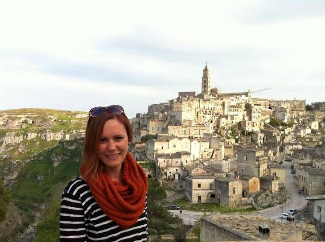 Candice Keller in Matera at Christmas time, 2013.